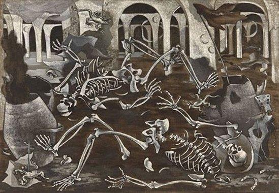 Maruja Mallo. Fossiles 1930. Huile sur toile