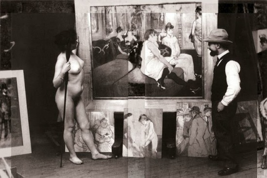 Maurice Guibert. Henri de Toulouse-Lautrec in his studio 1894