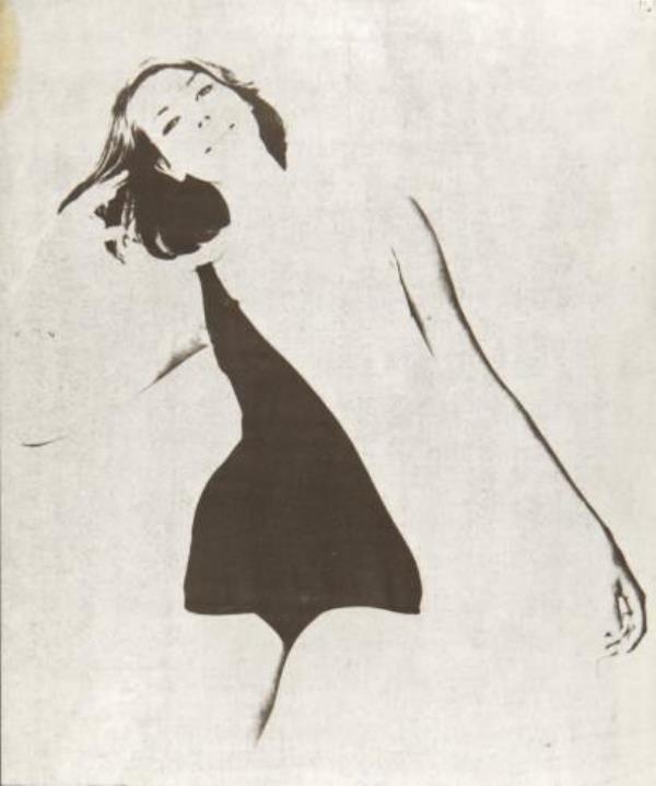 Maurice Tabard. Bichromate 1961 Report sur papier d'époque Via Drouot