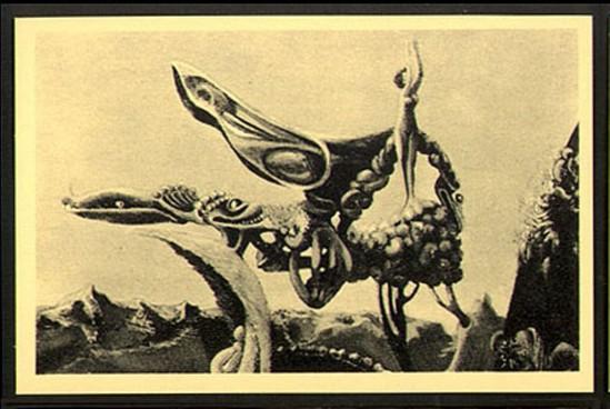 Max Ernst. La carte surréaliste 1937 Via vasta images