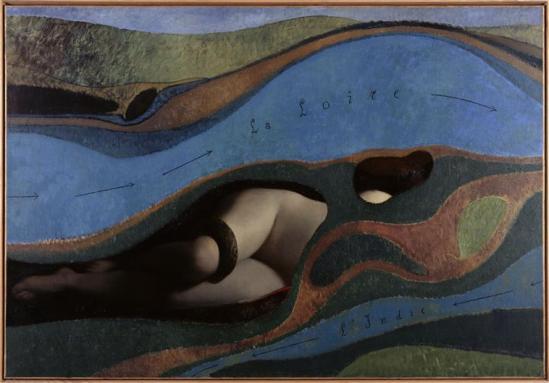 Max Ernst. Le jardin de la France 1962. Huile sur toile 114 cm x 168 cm Via RMN