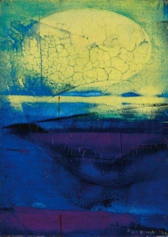 Max Ernst. Le soleil se déguisait 1963.Huile sur toile