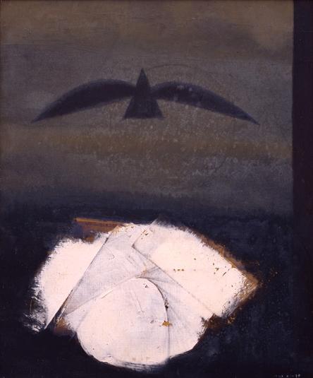 Max Ernst. Le tombeau du poète, après moi le sommeil 1968. Huile sur toile