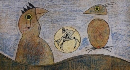 Max Ernst. Les oiseaux 1970. Lithographie. Via amorosart