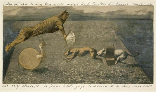 Max Ernst. vers 1920 Gouache, crayon et reproductions de photos découpées et collées sur papier Via RMN