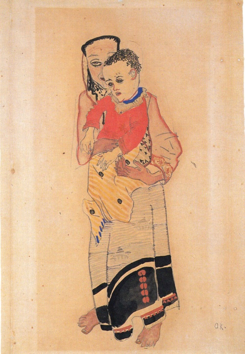 Mother and Child, 1909, Oskar Kokoschka