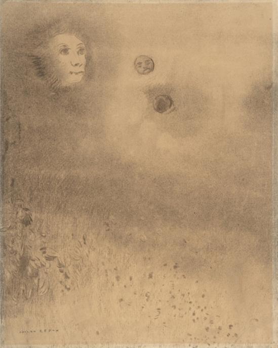 Odilon Redon. Hallucinations. fusain sur papier chamois. Via lechantdupain