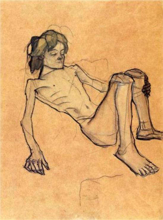 Oskar Kokoschka. The so-called Savoyard boy 1913
