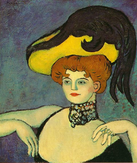 Pablo Picasso. Courtisane au collier de gemmes (1901)