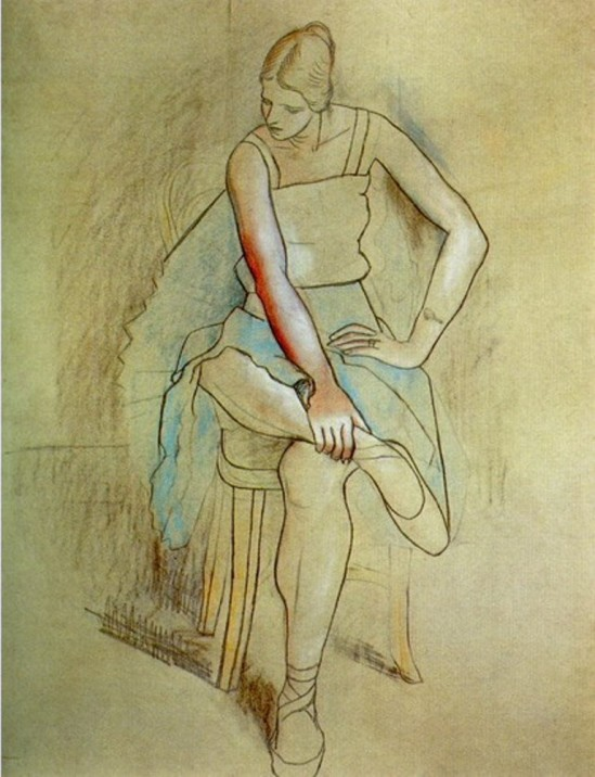 Pablo Picasso.Danseuse assise (Olga Picasso). 1920