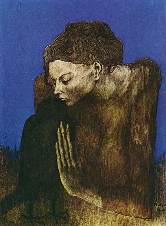 Pablo Picasso. Femme à la corneille 1904