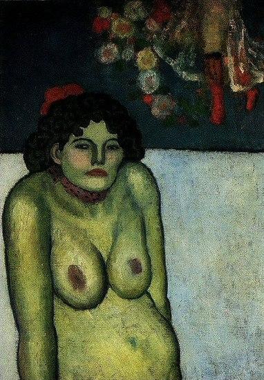 Pablo Picasso. Femme nue assise 1899