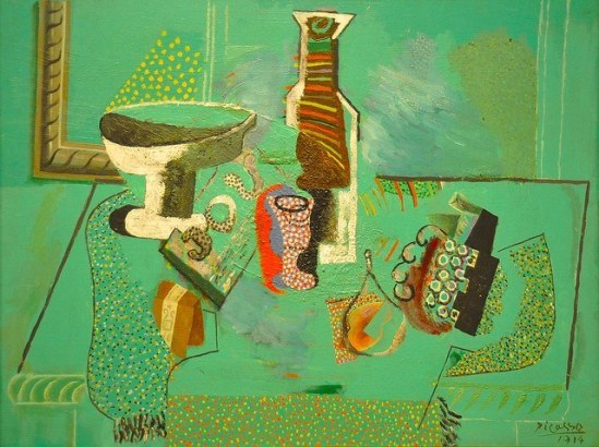Pablo Picasso. Green still life 1914