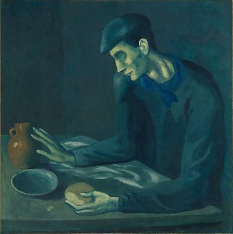 Pablo Picasso . Le repas de l'aveugle 1903