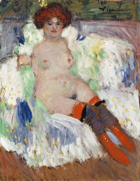 Pablo Picasso. Nu aux bas rouges 1901