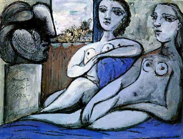 Pablo Picasso. Nudes and bust 1933