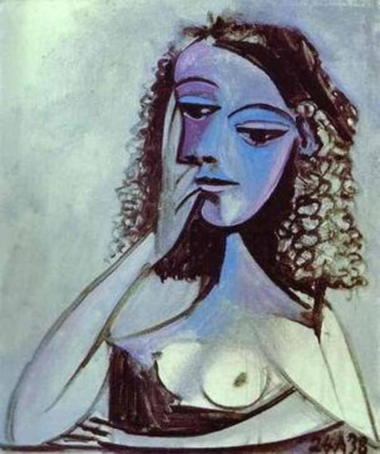 Pablo Picasso, Portrait of Nusch Eluard, 1938, Oil on canvas
