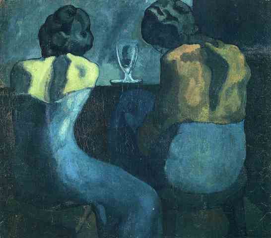 Pablo Picasso. Two women sitting at a bar 1902