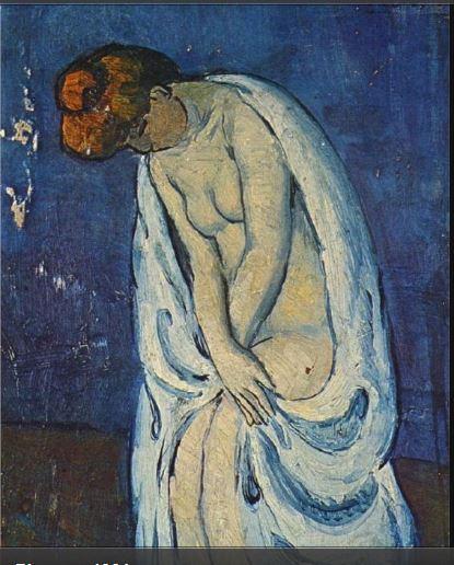 Pablo Picasso. Woman leaving the bath 1901