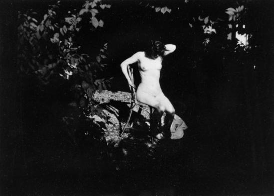 Pierre Bonnard. 1900-1901. Jardin de Montval. Marthe Bonnard. RMN