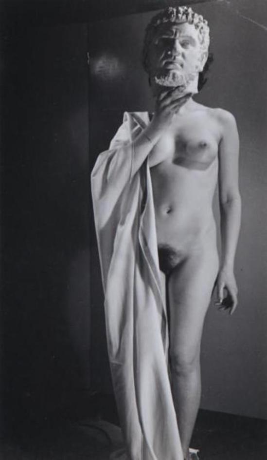 Pierre Boucher. Nu à la tête sculptée d'empereur, 1936 Via drouot