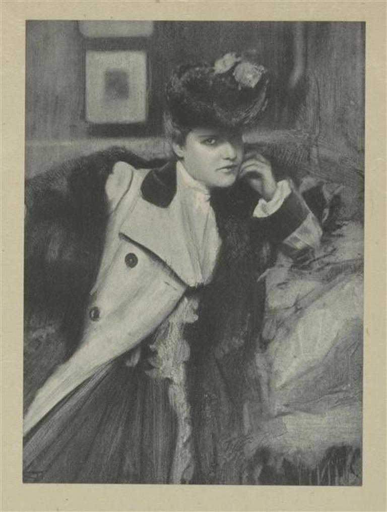 Robert Demachy. Portrait Mlle D. 1906 Similigravure Via RMN