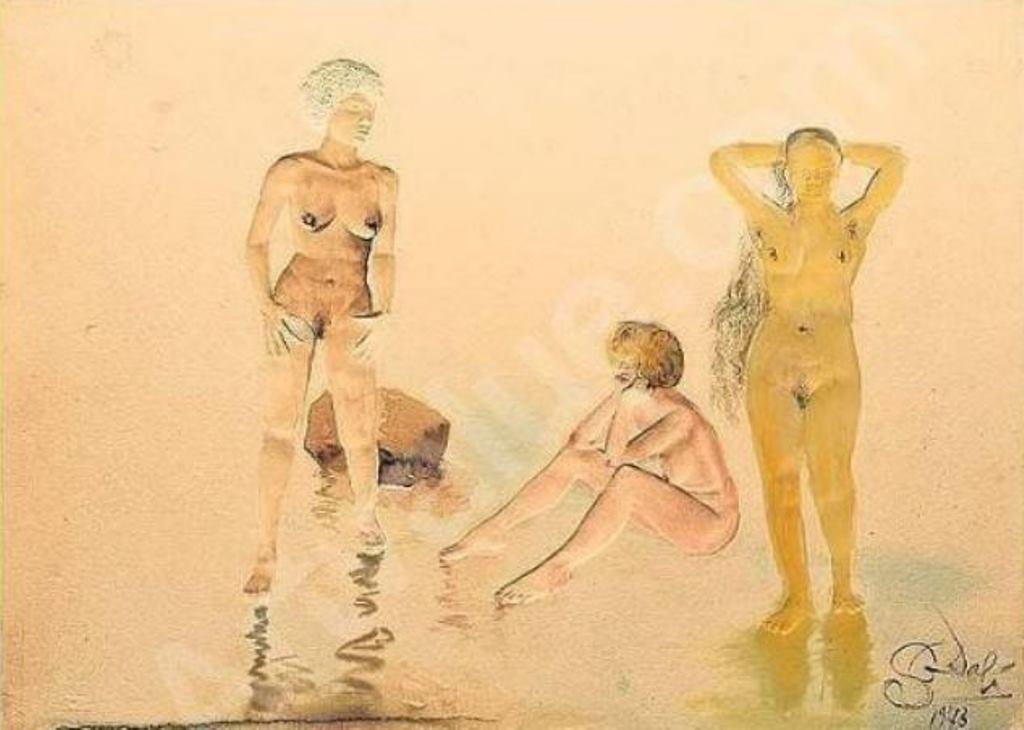 Salavador Dali. Trois grâces hyperréalistes (l'antiracisme) 1973