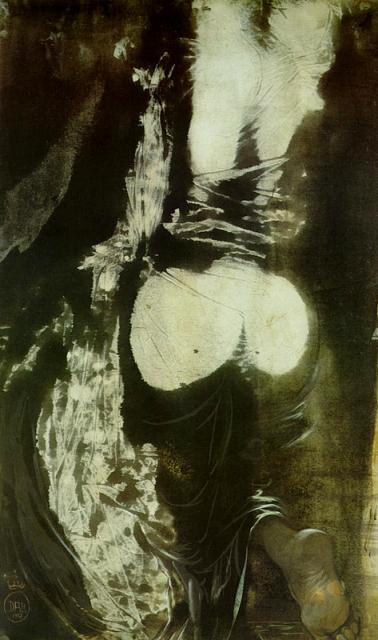 Salvador Dali. Figure climbing a stair 1967