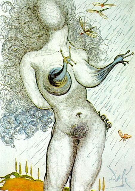 Salvador Dali. One of 21 graphics for 'Dali illustre Casanova' (Dali Illustrates Casanova), 1967