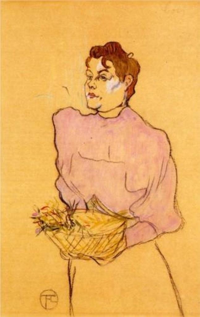 The Flower Seller - Henri de Toulouse-Lautrec 1894