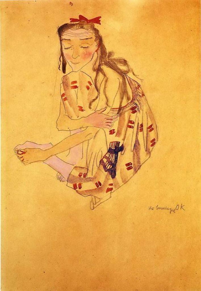 The Lunatic Girl - Oskar Kokoschka (1909)