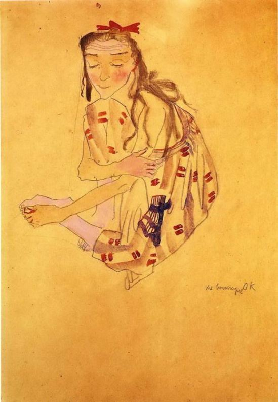 The Lunatic Girl - Oskar Kokoschka (1909)
