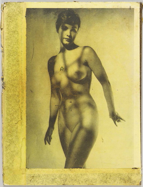 Joseph Cornell. Betty Page collage 1960