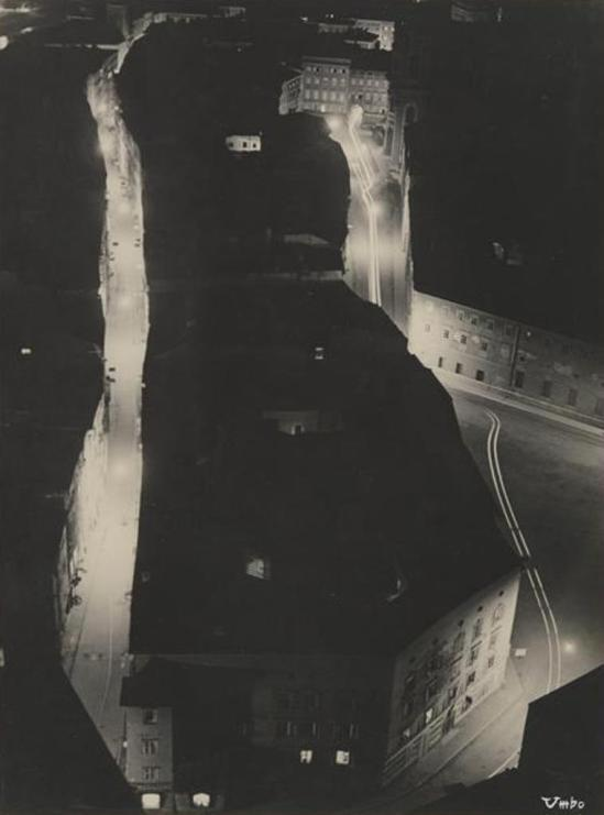 Umbo, Night in a Small Town, date unknown. Via theredlist