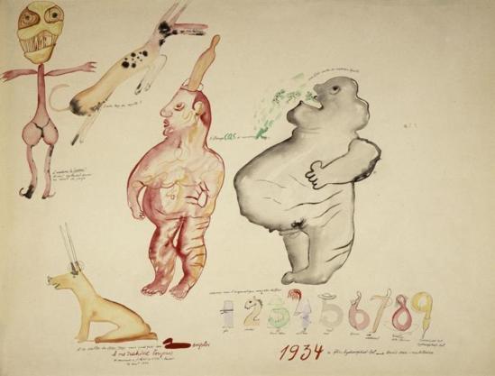 Victor Brauner. L'étrange cas de Monsieur K 1934 Via RMN