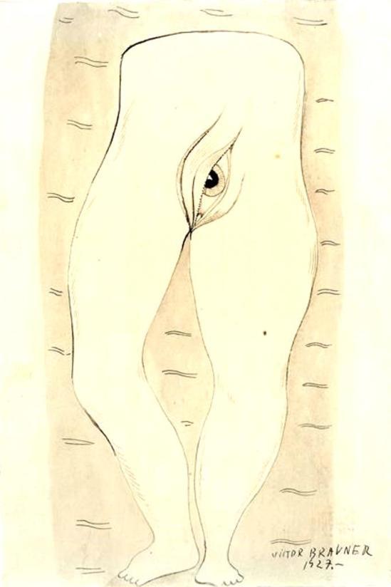 Victor Brauner. Le monde paisible 1927 Via RMN