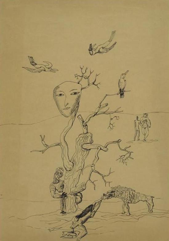 Victor Brauner. Le monde paisible 1930 Via RMN