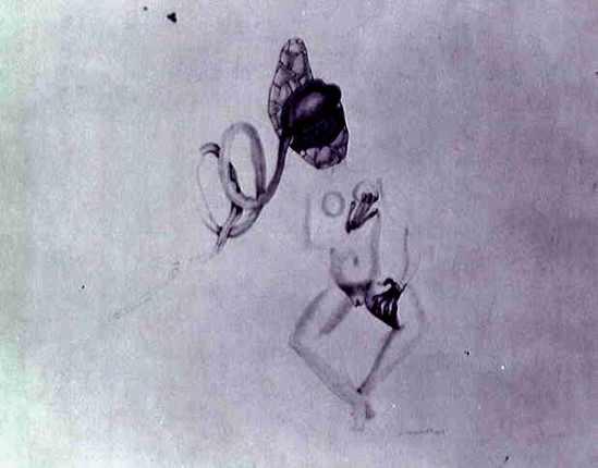 Victor Brauner. Sans Titre 1932. Mine de plomb sur papier Via RMN