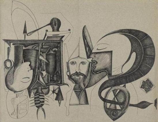 Victor Brauner. Sans titre 1938 Via RMN