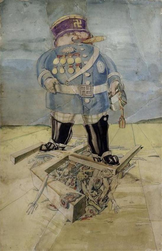 Victor Brauner. Sans titre (Hindenburg) vers 1935-1936 Via RMN