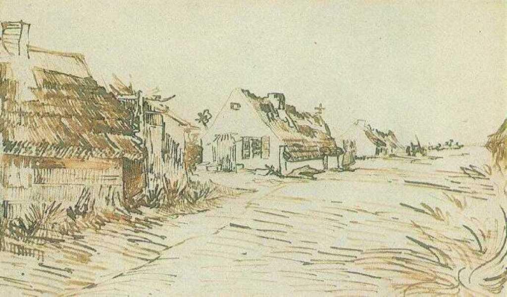 Vincent van Gogh. Cottages in Saintes-Maries 1888