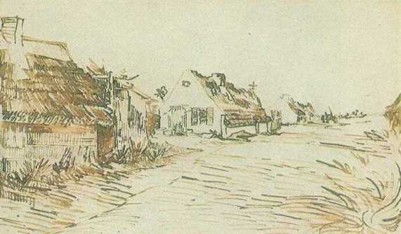 Vincent van Gogh. Cottages in Saintes-Maries 1888