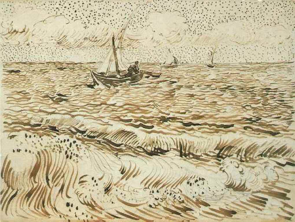 Vincent van Gogh.Fishing Boat at Sea 1888