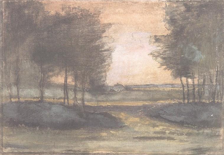 Vincent van Gogh. Landscape in Drenthe 1883
