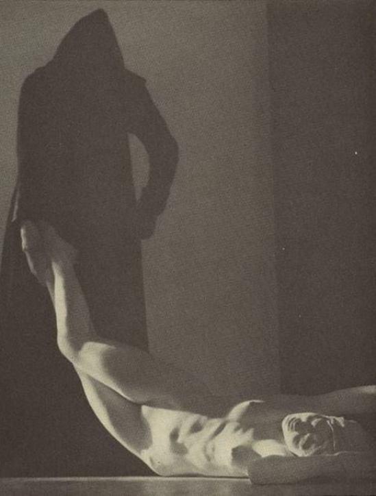 William Mortensen. Death of Hypatia Mortensen. Via historicalzg