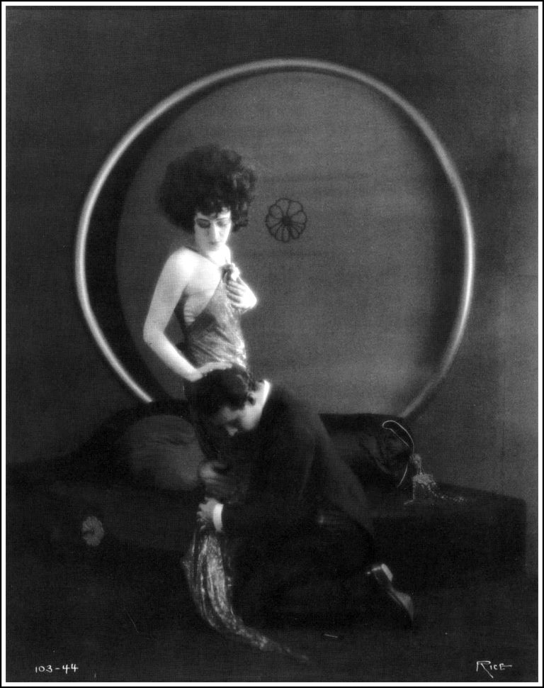 Alla Nazimova, in Camille directed by Ray C.Smallwood, 1921, with Rudolph Valentino by Arthur F.Rice Via theredlist