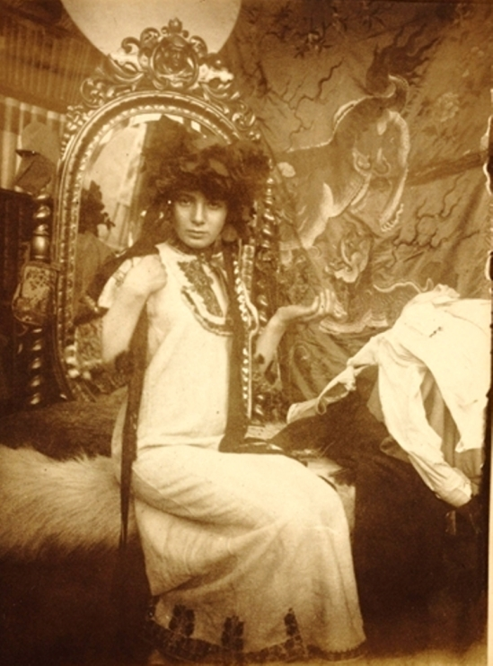Alphonse Marie Mucha. Model for Documents Décoratifs, Paris, c. 1900 Via mutualart