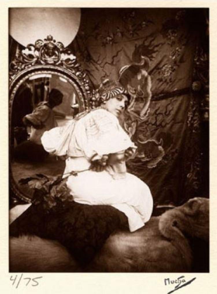 Alphonse Marie Mucha. Model for Figures Decoratives 1901 Via paulcava.com