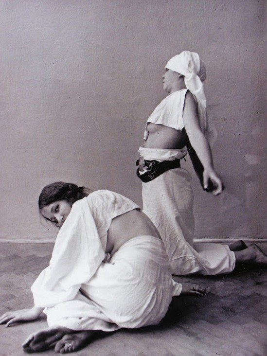 Alphonse Marie Mucha. Models posing in Mucha's studio rue du Val de Grâce  Via muchafoundation