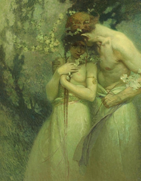Alphonse Marie Mucha. Spring night Via mutualart
